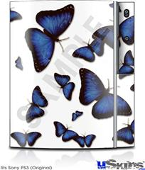 Sony PS3 Skin - Butterflies Blue