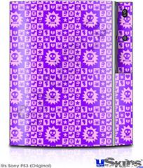 Sony PS3 Skin - Gothic Punk Pattern Purple