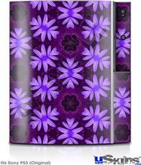 Sony PS3 Skin - Abstract Floral Purple