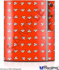 Sony PS3 Skin - Paper Planes Red