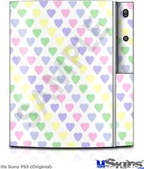 Sony PS3 Skin - Pastel Hearts on White