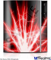 Sony PS3 Skin - Lightning Red