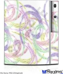 Sony PS3 Skin - Neon Swoosh on White