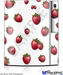 Sony PS3 Skin - Strawberries on White