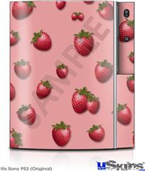 Sony PS3 Skin - Strawberries on Pink