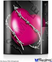 Sony PS3 Skin - Barbwire Heart Hot Pink