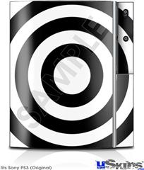 Sony PS3 Skin - Bullseye Black and White