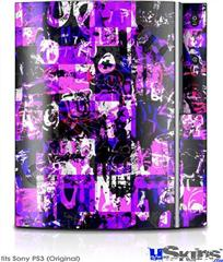 Sony PS3 Skin - Purple Graffiti