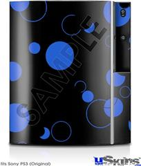 Sony PS3 Skin - Lots of Dots Blue on Black