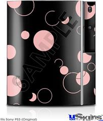 Sony PS3 Skin - Lots of Dots Pink on Black