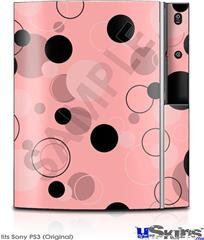 Sony PS3 Skin - Lots of Dots Pink on Pink