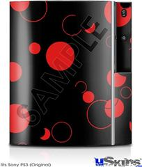 Sony PS3 Skin - Lots of Dots Red on Black