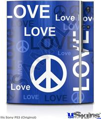 Sony PS3 Skin - Love and Peace Blue
