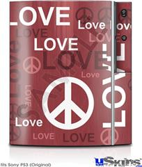 Sony PS3 Skin - Love and Peace Pink