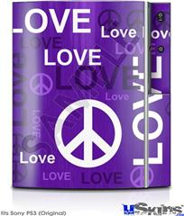 Sony PS3 Skin - Love and Peace Purple