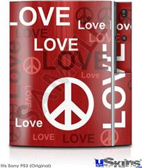 Sony PS3 Skin - Love and Peace Red