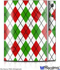 Sony PS3 Skin - Argyle Red and Green