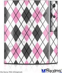Sony PS3 Skin - Argyle Pink and Gray