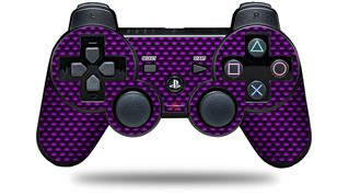 Sony PS3 Controller Decal Style Skin - Carbon Fiber Purple (CONTROLLER NOT INCLUDED)