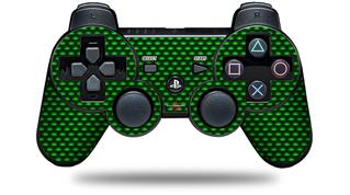 Sony PS3 Controller Decal Style Skin - Carbon Fiber Green (CONTROLLER NOT INCLUDED)