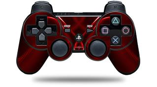 Sony PS3 Controller Decal Style Skin - Abstract 01 Red (CONTROLLER NOT INCLUDED)