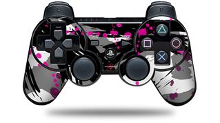 Sony PS3 Controller Decal Style Skin - Abstract 02 Pink (CONTROLLER NOT INCLUDED)
