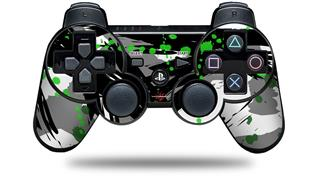 Sony PS3 Controller Decal Style Skin - Abstract 02 Green (CONTROLLER NOT INCLUDED)