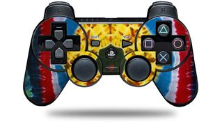 Sony PS3 Controller Decal Style Skin - Tie Dye Circles and Squares 101 (CONTROLLER NOT INCLUDED)