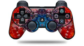 Sony PS3 Controller Decal Style Skin - Tie Dye Star 100 (CONTROLLER NOT INCLUDED)