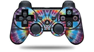 Sony PS3 Controller Decal Style Skin - Tie Dye Swirl 100 (CONTROLLER NOT INCLUDED)