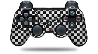 Sony PS3 Controller Decal Style Skin - Checkered Canvas Black and White (CONTROLLER NOT INCLUDED)
