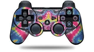 Sony PS3 Controller Decal Style Skin - Tie Dye Star 101 (CONTROLLER NOT INCLUDED)