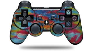 Sony PS3 Controller Decal Style Skin - Tie Dye Tiger 100 (CONTROLLER NOT INCLUDED)