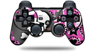 Sony PS3 Controller Decal Style Skin - Pink Bow Skull (CONTROLLER NOT INCLUDED)