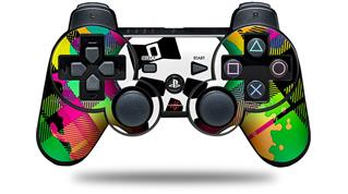Sony PS3 Controller Decal Style Skin - Rainbow Plaid Skull (CONTROLLER NOT INCLUDED)