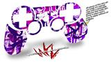 Sony PS3 Controller Decal Style Skin - Purple Checker Graffiti (CONTROLLER NOT INCLUDED)