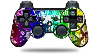 Sony PS3 Controller Decal Style Skin - Rainbow Graffiti (CONTROLLER NOT INCLUDED)
