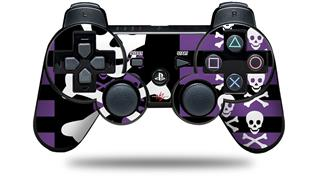 Sony PS3 Controller Decal Style Skin - Skulls and Stripes 6 (CONTROLLER NOT INCLUDED)