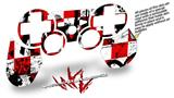 Sony PS3 Controller Decal Style Skin - Checker Graffiti (CONTROLLER NOT INCLUDED)