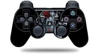 Sony PS3 Controller Decal Style Skin - Two Face with Rose (CONTROLLER NOT INCLUDED)