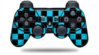 Sony PS3 Controller Decal Style Skin - Checkers Blue (CONTROLLER NOT INCLUDED)