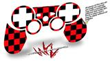 Sony PS3 Controller Decal Style Skin - Checkers Red (CONTROLLER NOT INCLUDED)
