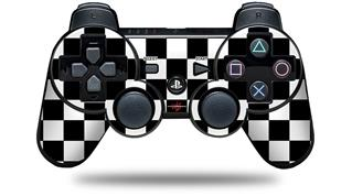 Sony PS3 Controller Decal Style Skin - Checkers White (CONTROLLER NOT INCLUDED)