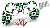 Sony PS3 Controller Decal Style Skin - Hearts And Stars Green (CONTROLLER NOT INCLUDED)