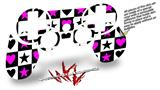Sony PS3 Controller Decal Style Skin - Hearts And Stars Pink (CONTROLLER NOT INCLUDED)
