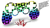 Sony PS3 Controller Decal Style Skin - Love Heart Checkers Rainbow (CONTROLLER NOT INCLUDED)