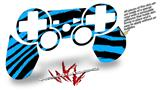 Sony PS3 Controller Decal Style Skin - Zebra Blue (CONTROLLER NOT INCLUDED)
