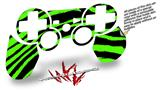 Sony PS3 Controller Decal Style Skin - Zebra Green (CONTROLLER NOT INCLUDED)