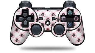 Sony PS3 Controller Decal Style Skin - Kearas Daisies Diffuse Glow Pink (CONTROLLER NOT INCLUDED)