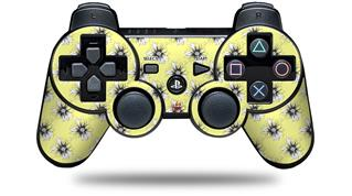 Sony PS3 Controller Decal Style Skin - Kearas Daisies Yellow (CONTROLLER NOT INCLUDED)
